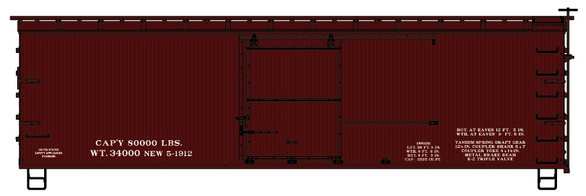 HO Scale Accurail Kit 3012 CP Canadian Pacific 40/' Double Door Box Car #580427