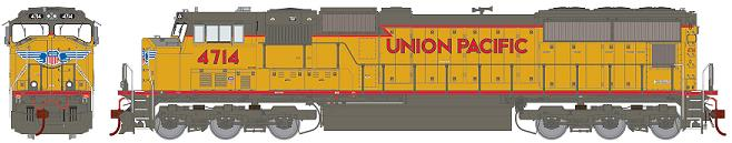 Union Pacific SD70M with Flared Radiators