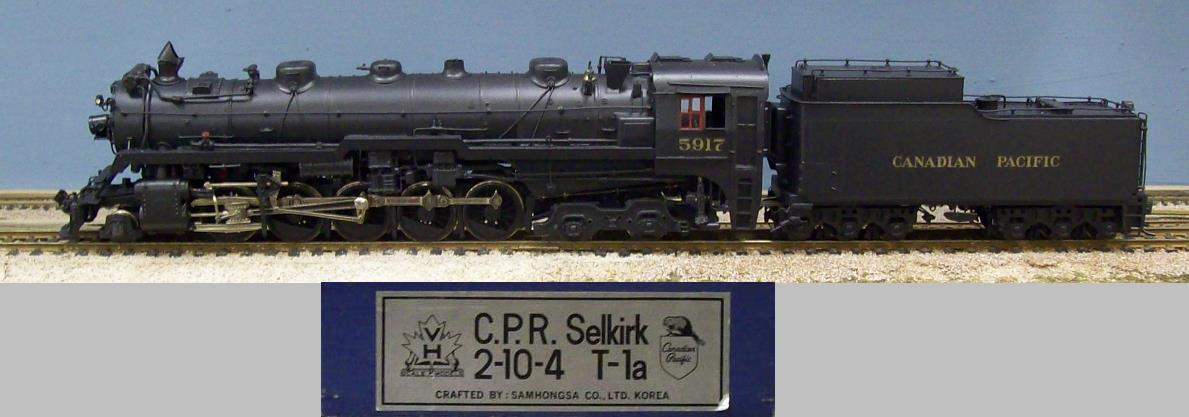 Canadian Pacific Railway - CPR Class T-1a 2-10-4 Selkirk
