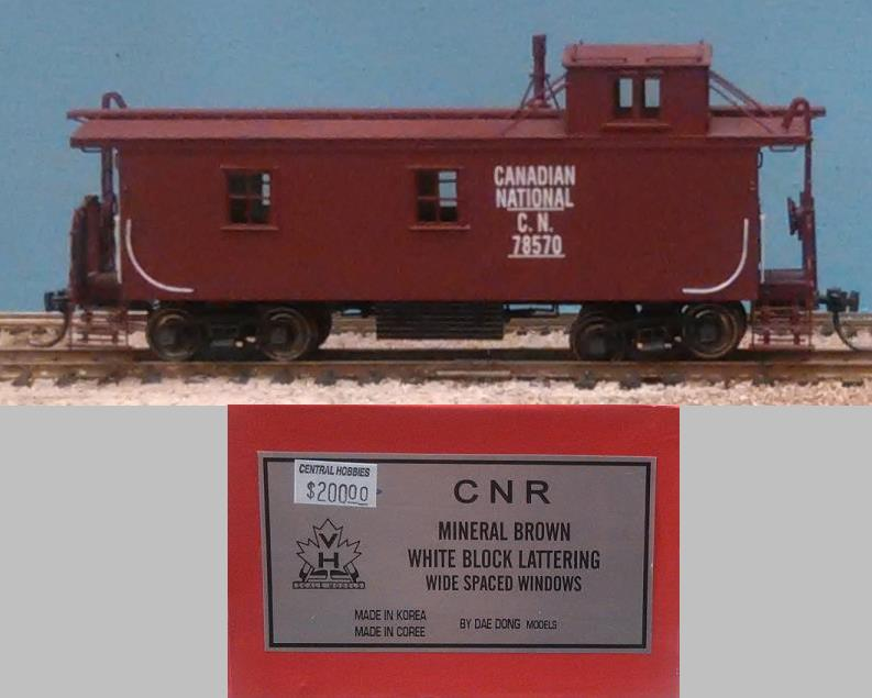 Canadian National Railway - CNR Wood Caboose, Mineral