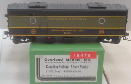 Canadian National Railway - Steam Heater Car (1952 Schem)