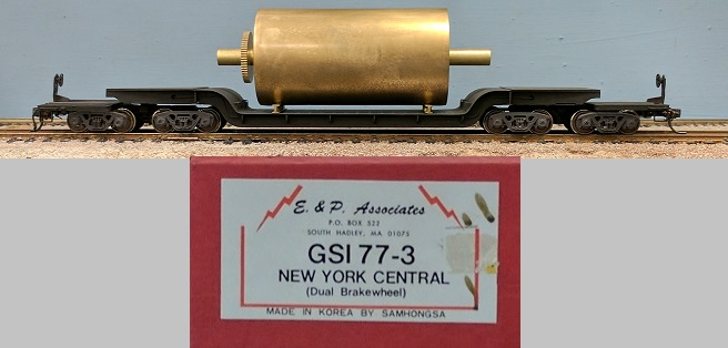 New York Central - New York Central GSI 77-3 Dual Brake Wheel Depressed Center Flat Car with Load