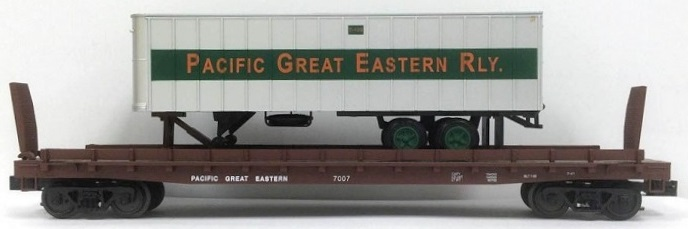 PGE Flat car with PGE Trailer